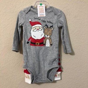 Carter's Santa's Little Helper Onesie & Pants NWT